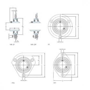 SKF PF 17 FM bearing units