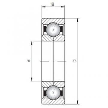 ISO QJ1252 angular contact ball bearings