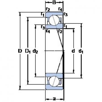 35 mm x 55 mm x 10 mm  SKF 71907 CE/HCP4A angular contact ball bearings