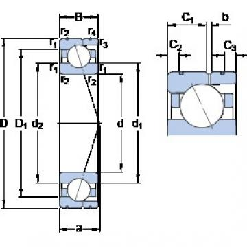 65 mm x 100 mm x 18 mm  SKF 7013 ACD/P4AL angular contact ball bearings
