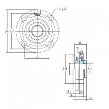 KOYO UKFC208 bearing units