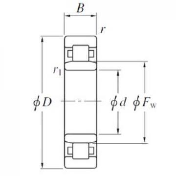 850 mm x 1120 mm x 118 mm  KOYO NU19/850 cylindrical roller bearings