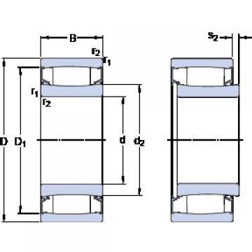 120 mm x 180 mm x 60 mm  SKF C 4024-2CS5V/GEM9 cylindrical roller bearings