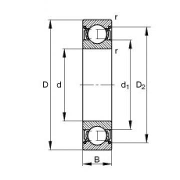 50 mm x 90 mm x 20 mm  FAG 6210-2Z deep groove ball bearings