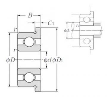 4,762 mm x 7,938 mm x 2,779 mm  NTN FLR156 deep groove ball bearings