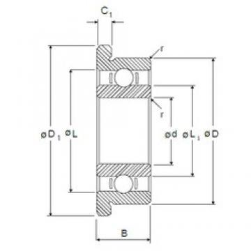 4 mm x 16 mm x 5 mm  NMB RF-1640 deep groove ball bearings