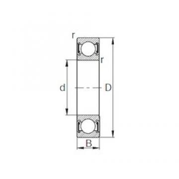 35 mm x 55 mm x 10 mm  CYSD 6907-2RZ deep groove ball bearings