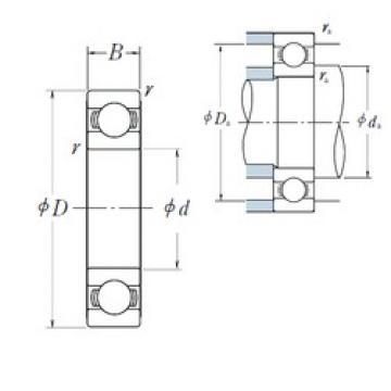 220 mm x 340 mm x 37 mm  NSK 16044 deep groove ball bearings