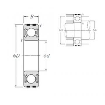 10 mm x 26 mm x 8 mm  NTN EC-6000LLU deep groove ball bearings