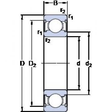 9 mm x 26 mm x 8 mm  SKF W 629-2Z deep groove ball bearings