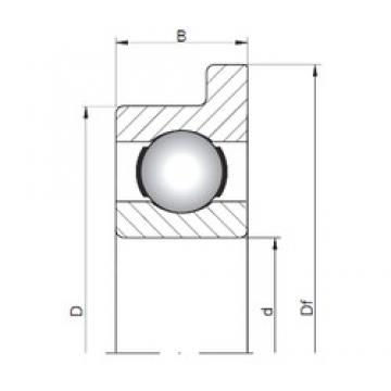 2 mm x 6 mm x 2,3 mm  ISO FL619/2 deep groove ball bearings