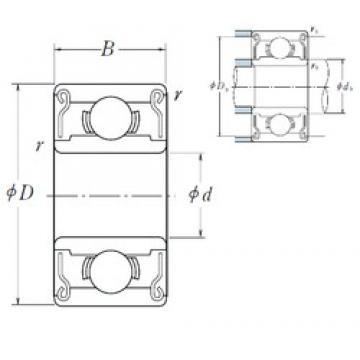 8 mm x 16 mm x 5 mm  NSK 688 AZZ1 deep groove ball bearings