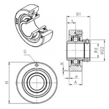 SNR EXC213 bearing units