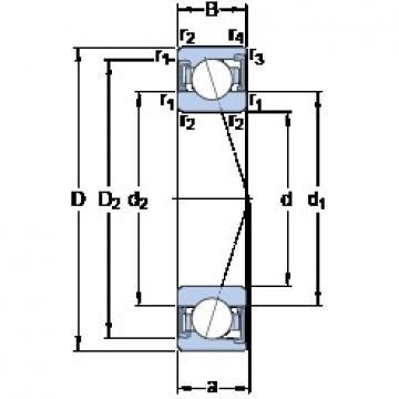 60 mm x 85 mm x 13 mm  SKF S71912 CD/HCP4A angular contact ball bearings