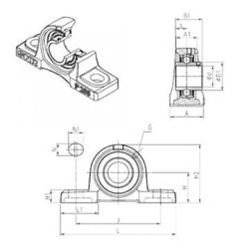 SNR UCP214 bearing units