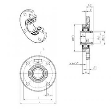 SNR UCFCE207 bearing units