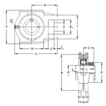 100 mm x 28 mm x 60 mm  NKE RTUE 100 bearing units