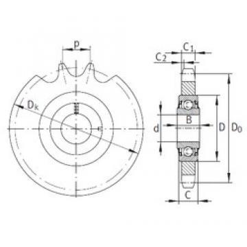 16,2 mm x 40 mm x 18,3 mm  INA KSR16-L0-12-10-17-16 bearing units