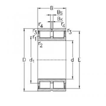 380 mm x 480 mm x 100 mm  NKE NNCL4876-V cylindrical roller bearings