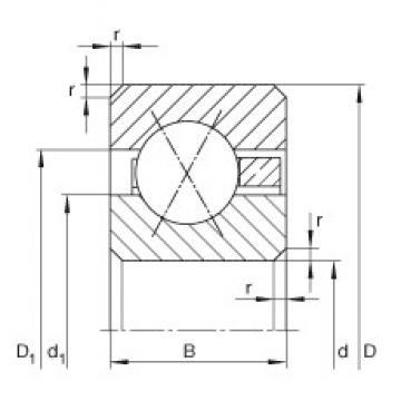 9 inch x 279,4 mm x 25,4 mm  INA CSXG090 deep groove ball bearings