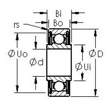 AST SRW4ZZ deep groove ball bearings