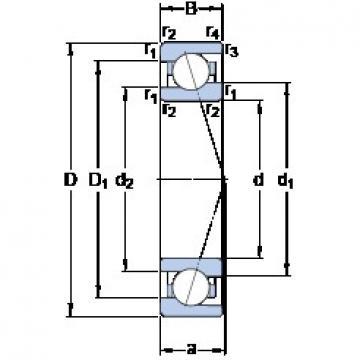 20 mm x 37 mm x 9 mm  SKF 71904 ACE/HCP4A angular contact ball bearings