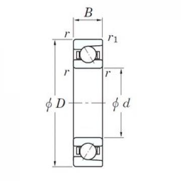40 mm x 68 mm x 15 mm  KOYO 3NC 7008 FT angular contact ball bearings