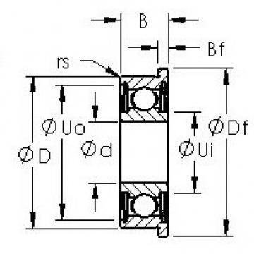 AST SFR8ZZ deep groove ball bearings
