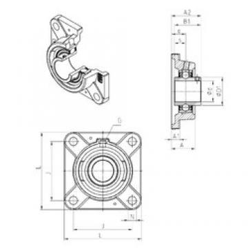 SNR UCFE212 bearing units
