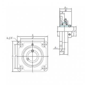 KOYO UCSF204H1S6 bearing units