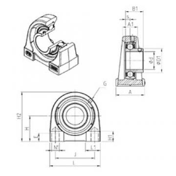 SNR USPG205 bearing units
