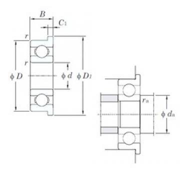 2,5 mm x 6 mm x 1,8 mm  KOYO F68/2,5 deep groove ball bearings