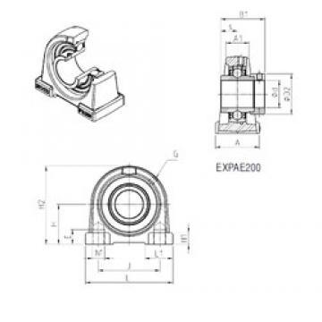 SNR EXPAE203 bearing units