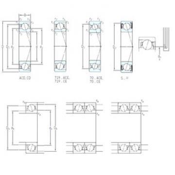 95 mm x 145 mm x 24 mm  SKF S7019 CB/HCP4A angular contact ball bearings