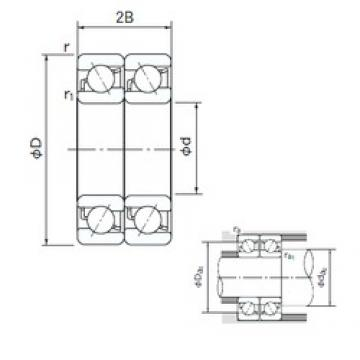 55 mm x 100 mm x 21 mm  NACHI 7211BDT angular contact ball bearings