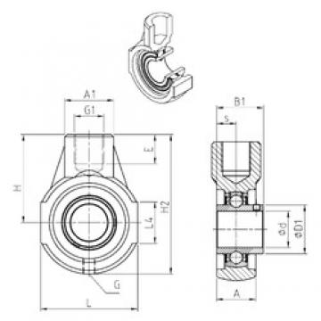 SNR UCEHE201 bearing units