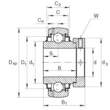 INA GE40-KRR-B-FA101 deep groove ball bearings