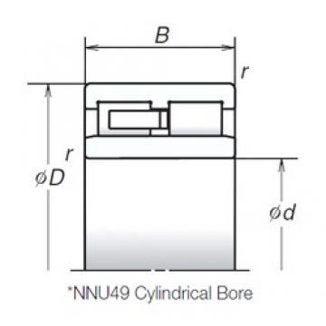 150 mm x 210 mm x 60 mm  NSK NNU4930MB cylindrical roller bearings