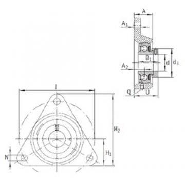 INA PCFTR12 bearing units