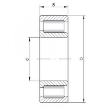 75 mm x 160 mm x 55 mm  ISO NJF2315 V cylindrical roller bearings