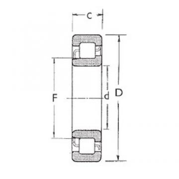 30 mm x 72 mm x 27 mm  FBJ NJ2306 cylindrical roller bearings