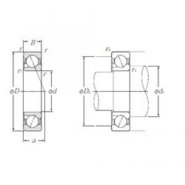 10 mm x 30 mm x 9 mm  NTN 5S-BNT200 angular contact ball bearings