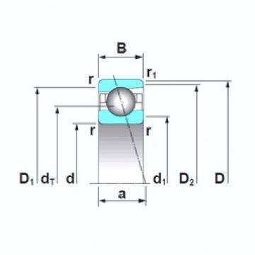 30 mm x 62 mm x 16 mm  NSK 7206CTRSU angular contact ball bearings