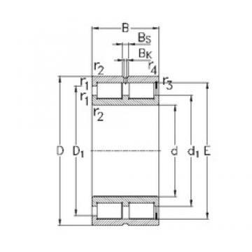 200 mm x 310 mm x 150 mm  NKE NNCF5040-V cylindrical roller bearings