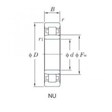 140 mm x 300 mm x 102 mm  KOYO NU2328 cylindrical roller bearings