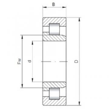 80 mm x 140 mm x 44,45 mm  ISO NJ5216 cylindrical roller bearings