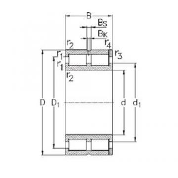 500 mm x 670 mm x 170 mm  NKE NNC49/500-V cylindrical roller bearings