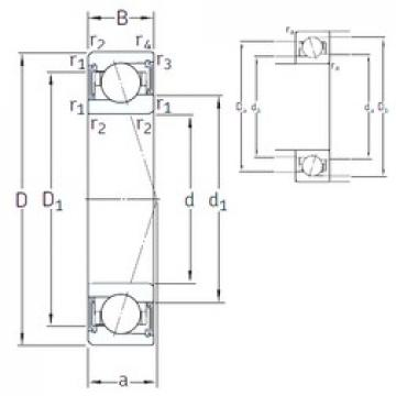 10 mm x 22 mm x 6 mm  SNFA VEB 10 /S 7CE3 angular contact ball bearings