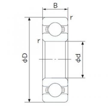 85 mm x 110 mm x 13 mm  NACHI 6817 deep groove ball bearings