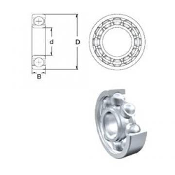 55 mm x 72 mm x 9 mm  ZEN S61811 deep groove ball bearings